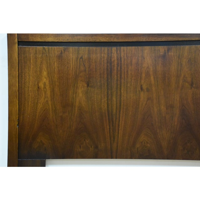 Mid-Century Modern Queen Size Walnut Headboard - Image 3 of 7