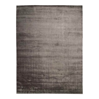 Rugiano Luxury Silver Viscose Rug - 11′10″ For Sale