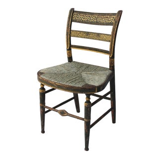 19th Century Vintage Gilt and Painted Side Chair For Sale