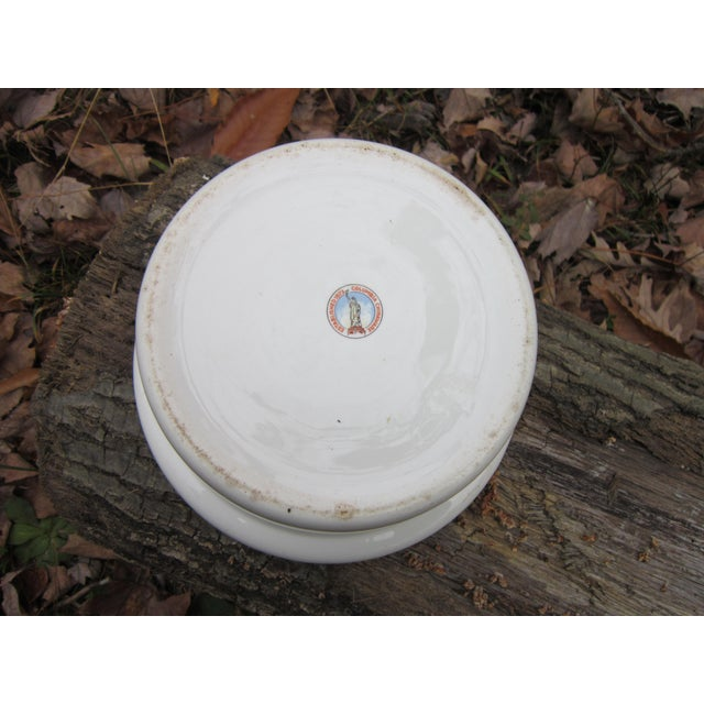 White Columbia Chinaware Harker Floral Baking Casserole Dish / Canister For Sale - Image 8 of 10