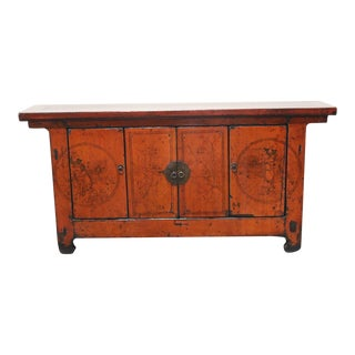1920s Chinese Lacquered Sideboard For Sale