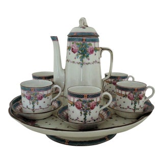 19th C. Royal Worcester Demitasse Serving Set For Sale