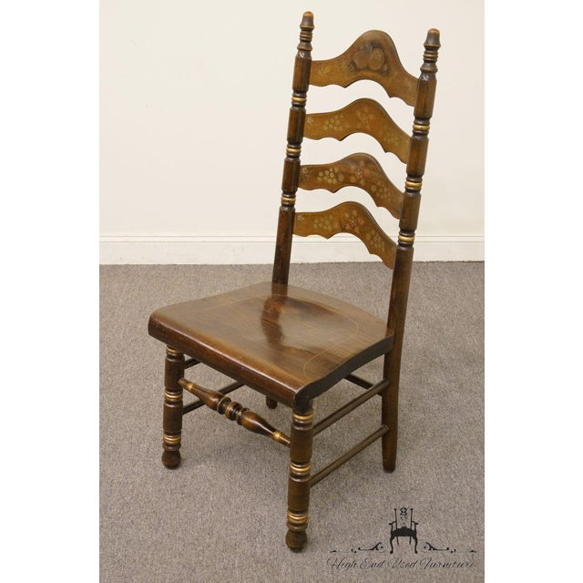 Ethan Allen 20th Century Traditional Ethan Allen Old Tavern Pine Ladder Back Dining Chair For Sale - Image 4 of 9
