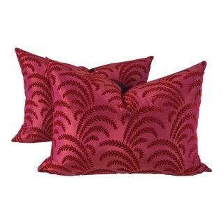 Anna French Pressed Velvet Pillows – A Pair
