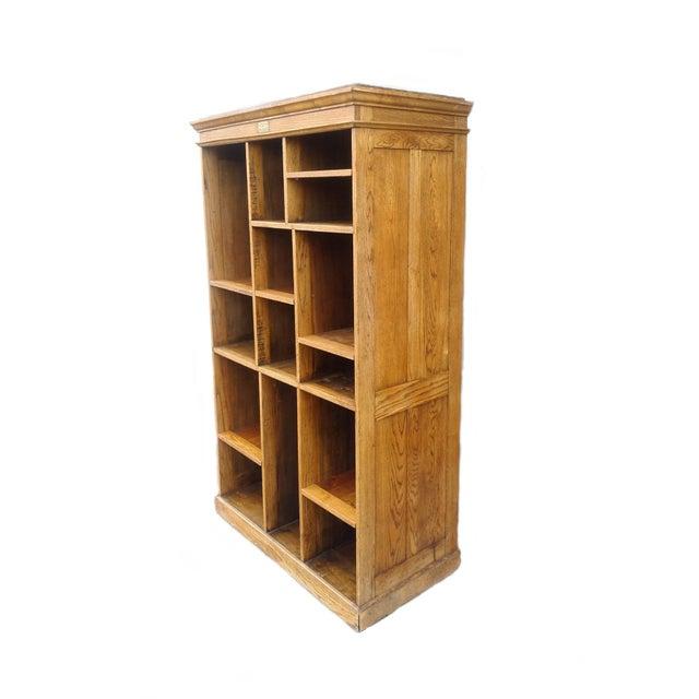 MCM Rustic Wood Book Shelf Storage Unit - Image 2 of 7