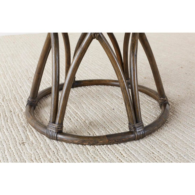 McGuire Organic Modern Round Game or Dining Table For Sale - Image 12 of 13