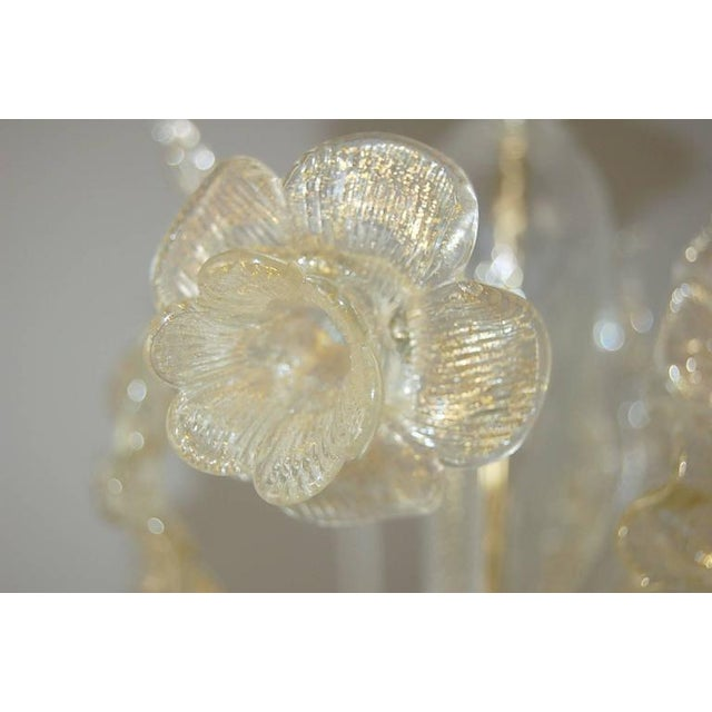 Vintage Murano Glass Champagne Gold Chandelier For Sale In Little Rock - Image 6 of 11