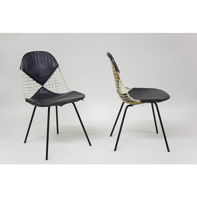 "1950s Early Eames Wire ""Bikini"" Chairs - A Pair - Image 2 of 5"