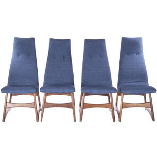 1950s Vintage Adrian Pearsall High Back Dining Chairs- Set of 4 For Sale
