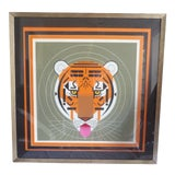 Image of Original Charles Harper Limited Edition Signed Serigraph Tiger Print, Framed For Sale