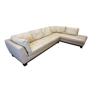 Roche Bobois Cream Leather Sectional
