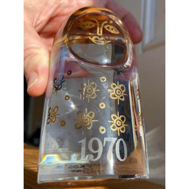 Mid-Century Modern 1970s Kosta Boda Mom Paperweight For Sale - Image 3 of 9