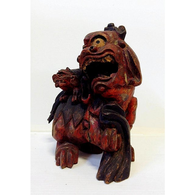 19th Century Chinese Carved Foo Dogs - 3 - Image 5 of 9