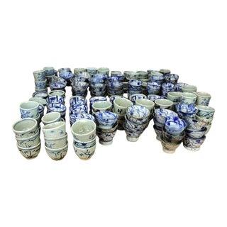 Sarreid Ltd Vintage Blue & White Cups - Set of 250 For Sale