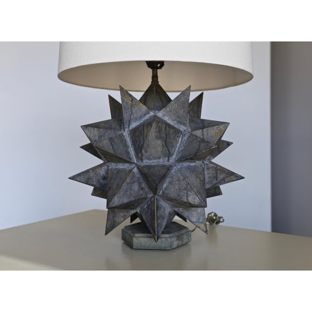 Sculptural Metal Table Lamps, Circa 1965 - a Pair For Sale - Image 4 of 12