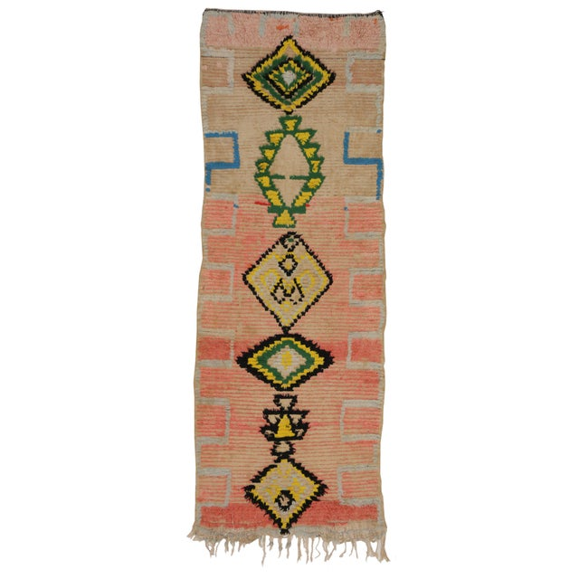 Vintage Moroccan Berber Tribal Design Runner - 3'8 x 8' For Sale In Dallas - Image 6 of 7