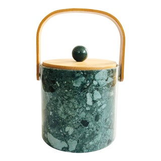 Vintage Green Terrazzo Ice Bucket For Sale
