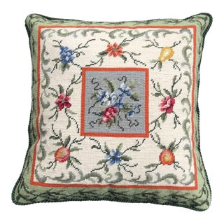 Needlepoint Fruit Pillow For Sale