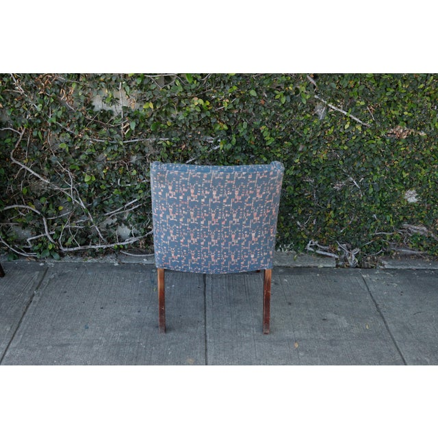 Retro Fabric Side Chairs - A Pair - Image 5 of 9