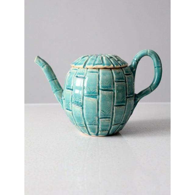Ceramic Vintage Studio Pottery Tea Pot For Sale - Image 7 of 11