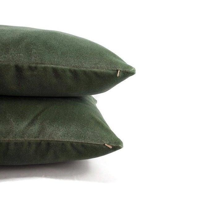 """2010s Pollack Sedan Plush in Eucalyptus Pillow Cover - 20"""" X 20"""" Sage Green Heavy Velvet Cushion Case For Sale - Image 5 of 8"""