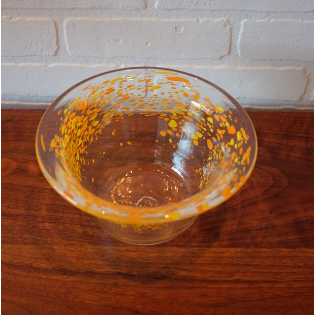 Hand Blown Glass Decorative Bowl For Sale - Image 4 of 4