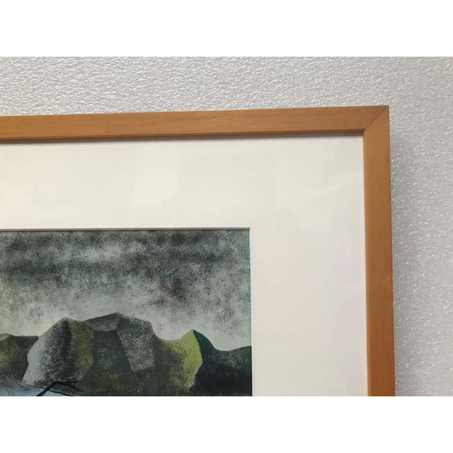 Mid 20th Century Surrealist Landscape Signed Rothbart For Sale - Image 5 of 8