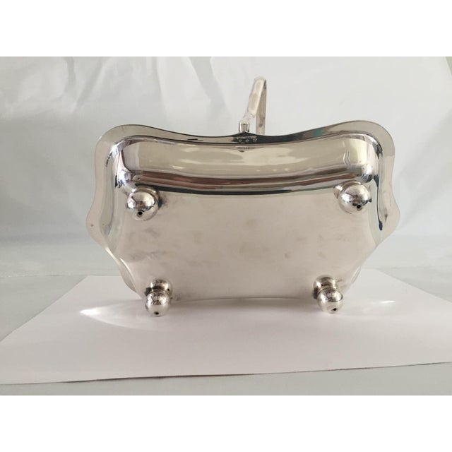 Mid-Century Silver Plate Wedding Basket For Sale - Image 5 of 8