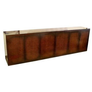 1980s Contemporary Modern Custom X-Large Mahogany Credenza Sideboard