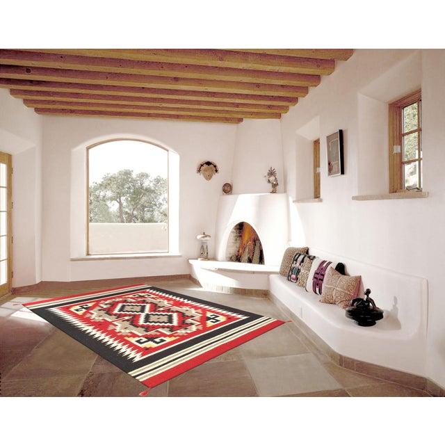 "Navajo Decorative Hand-Woven Rug - 4' X 5'11"" - Image 3 of 3"