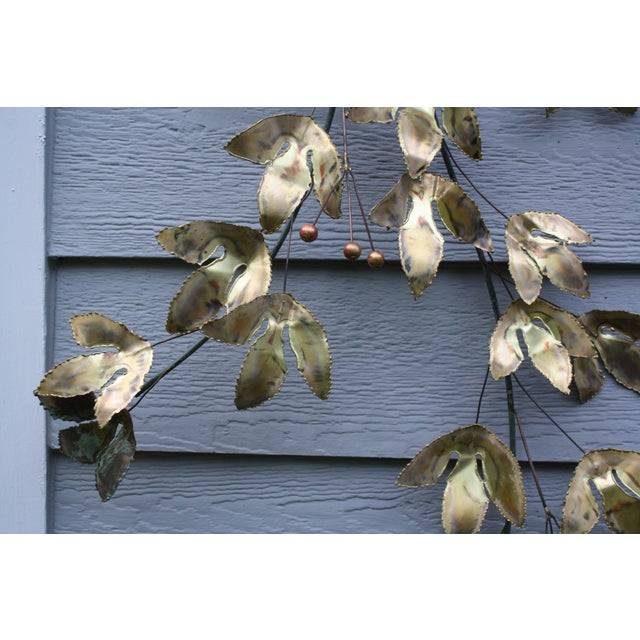 1969 Curtis Jere Mid Century Modern Metal Wall Sculpture Leafs, Signed For Sale In Seattle - Image 6 of 13
