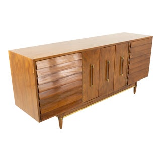 Merton Gershun Mid Century 9 Drawer Lowboy Dresser For Sale