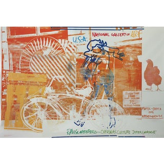 Robert Rauschenberg-Bicycle, National Gallery, 1992 Foil Print For Sale