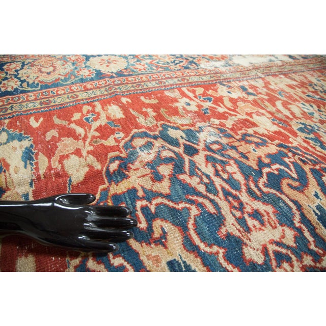 "Antique Distressed Ziegler Sultanabad Carpet - 9'9"" X 13'3"" For Sale - Image 4 of 10"