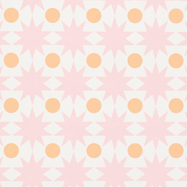 Schumacher Schumacher Cosmos Wallpaper in Pink For Sale - Image 4 of 4