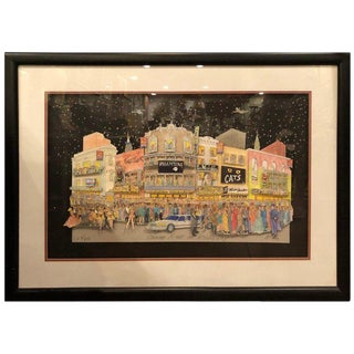 1980s Contemporary 3d Collage Art of Broadway by McCue For Sale
