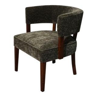1970s Vintage Barrel Back Side Chair For Sale