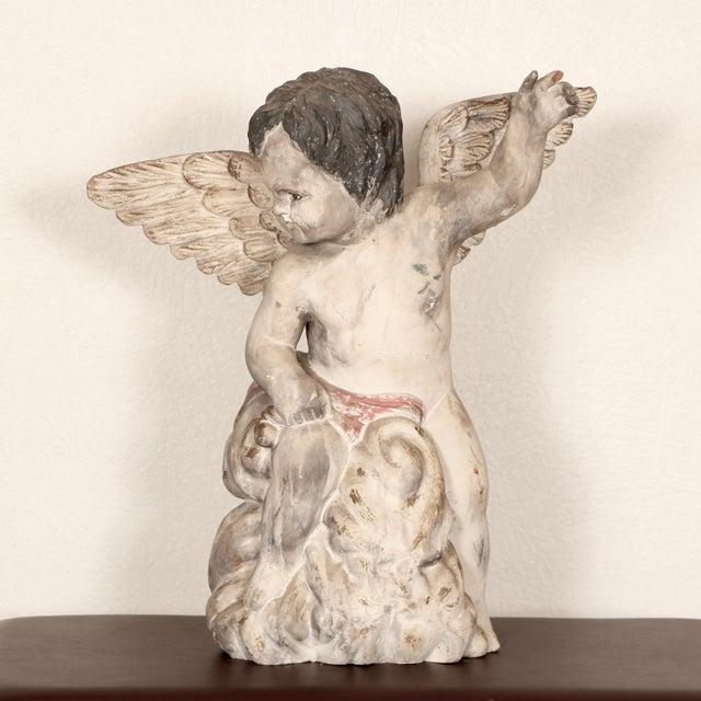 Antique Carved Wooden Angel For Sale - Image 4 of 11