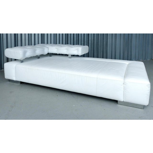 """""""Sunrise Two"""" Leather Bruehl of Germany Daybed For Sale - Image 5 of 11"""