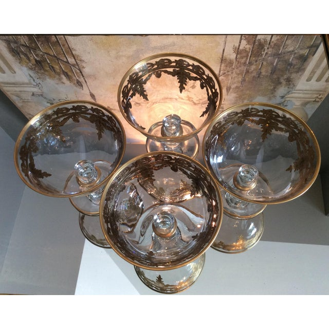 Arte Italica Vetro Gold Dessert Bowls - Set of 4 - Image 8 of 10