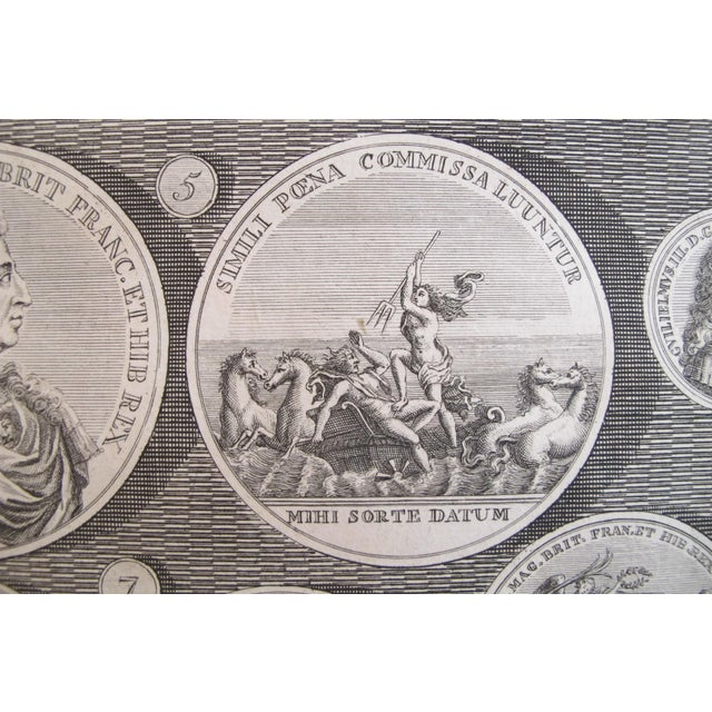 Original 1745 British Engravings, Royal Medals - A Pair - Image 8 of 9
