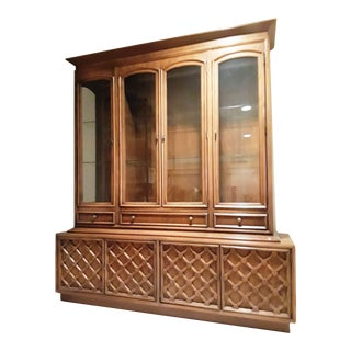 Drexel Mid-Century Lighted China Cabinet