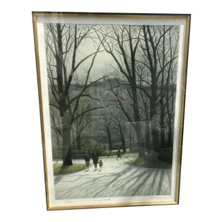 "Original Series Lithograph ""Evening Walk"" by Harold Altman For Sale"