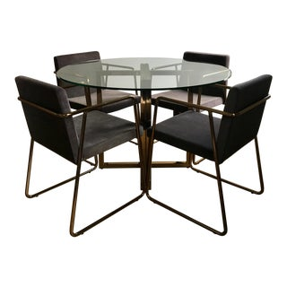 "Silverado Brass 47"" Round Dining Table For Sale"
