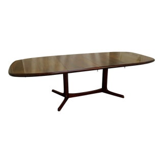 Mid-Century Danish Modern Rosewood Extendable Surfboard Dining Table