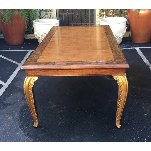 2010s Spectacular Carved French Dining Table W Palm Leaf Leg by Randy Esada Designs For Sale - Image 5 of 7