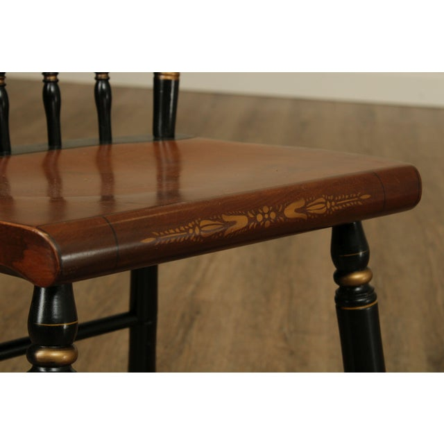 Black Hitchcock Eagle Painted Black & Maple Side Chair For Sale - Image 8 of 13