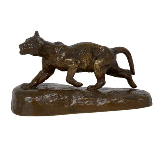 "19th Century ""Lion Cub"" French Antique Bronze Sculpture by Isidore Bonheur For Sale"