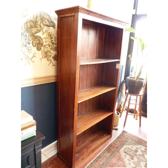 Rustic Wooden Bookcase - Image 4 of 11