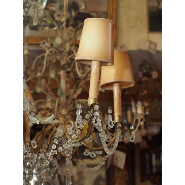 French 19th Century French Crystal Chandelier For Sale - Image 3 of 11